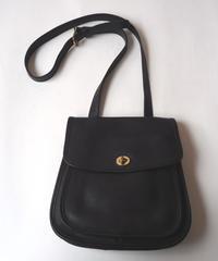 COACH Round Bottom Flat Belt Shoulder Bag BK