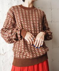 Argyle Pattern Sweater BR