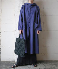 China Button Hooded Coat BL