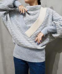 Stripe Design Mohair Knit BLIV