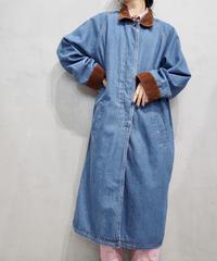 Corduroy × Denim Long Coat BLBR