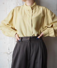 Double Button Stand Collar Blouse YE