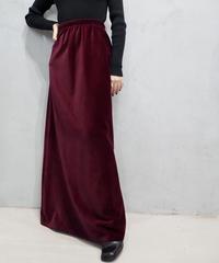 Velour Easy Tight Skirt BUR