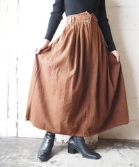 Pocket Embroidery Flared Skirt BR