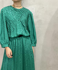 Shadow Pattern Pleated Design Dress GN