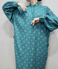 Small Pattern Stand Collar Dress GN