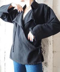 Open Collar Design Blouse BK