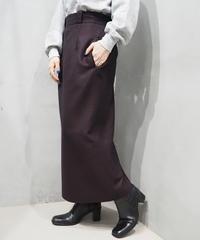 Heringbone Tweed Tight Skirt BRBK