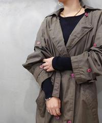 Pleated Back Design Trench Coat KA