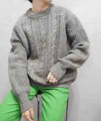Cable × Rib Bulky Sweater GR