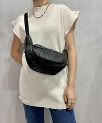 Leather Belt Shoulder Bag BK