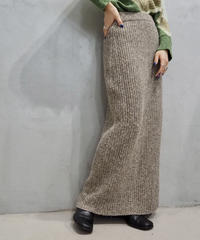 Rib Knit Tight Long Skirt BE
