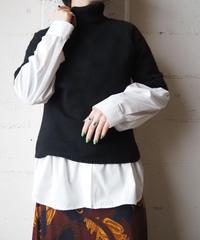 Cashmere & Silk S/S Turtle Neck Knit BK