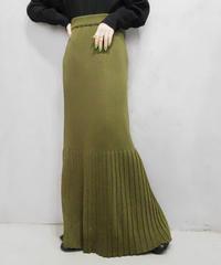 Pleats Rib Skirt