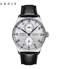 【全6色】 Parnis43ミリメートル自動腕時計パワーリザーブ機械式腕時計クラシック男性ダイバー腕時計