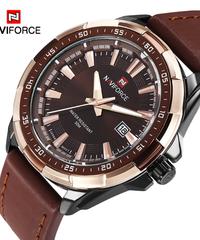 【全4色】 NAVIFORCEメンズ腕時計トップ高級ブランドファッションスポーツ腕時計男性防水クォーツ時計男性陸軍ミリタリーレザー腕時計