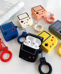 任天堂 Nintedo AirPodsケースカバー AirPods第1/2世代専用充電ケースカバー ゲームボーイ保護ケース 初代デザイン シリコーンケース