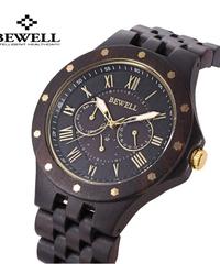 BEWELL クォーツ軽量ヴィンテージ男性腕時計自動日付曜日表示機能付き