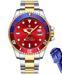 【全20色】 2019 TEVISEトップブランドのメンズ機械式時計自動ファッション高級ステンレス鋼男性時計レロジオ ①