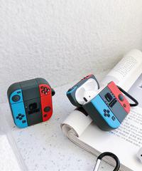 任天堂 Nintedo AirPodsケースカバー AirPods第1/2世代専用充電ケースカバー ニンテンドースイッチ保護ケース JoyConデザイン シリコーンケース