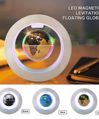 磁気浮上フローティンググローブ世界地図でledライトランプ