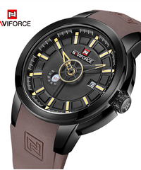 【全5色】 NAVIFORCE男性用クォーツ腕時計防水ユニークなスポーツ時計