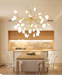 現代のホタルledシャンデリアライトスタイリッシュな木の枝シャンデリアランプホタル天井吊りシャンデリア照明 9ライト