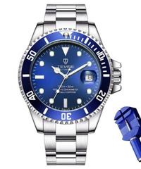 【全20色】 2019 TEVISEトップブランドのメンズ機械式時計自動ファッション高級ステンレス鋼男性時計レロジオ ②