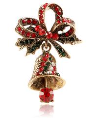 クリスマス2019  聖夜のジングルベル(単鐘)型ブローチ ドレスコートジュエリー  安全ピン ギフトにも!