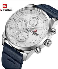 【全5色】 NAVIFORCEトップブランドの高級防水24時間日付クォーツ時計男のファッションレザースポーツ腕時計男性時計