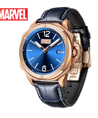 ディズニー公式 マーベルシリーズ腕時計 海外限定版 アベンジャーズチームロゴクォーツ防水自動機械式時計