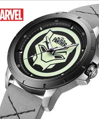 ディズニー公式 マーベルシリーズ腕時計 海外限定版 アベンジャーズブラックパンサークォーツ防水時計