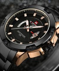 【全4色】 NAVIFORCEメンズ腕時計トップ高級ブランドメンズフルスチール腕時計クォーツ時計アナログ防水スポーツ陸軍ミリタリー腕時計