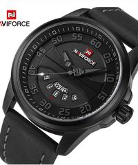 【全5色】 NAVIFORCE男性ファッションカジュアル腕時計メンズクォーツ時計男性レザーストラップアーミーミリタリースポーツ腕時計