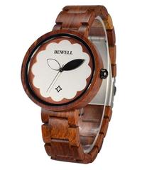 BEWELL 2019 新スタイルレディース木製腕時計クォーツ時計木製バンド