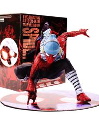 MARVEL マーベル スパイダーマン(ウィンターVer) マグネット付きフィギュア 約10㎝ 1/17  スパイダーマンヒーロー