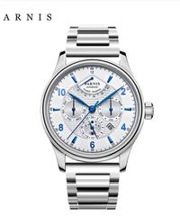 【全14色】 Parnis42ミリメートル自動腕時計ムーンフェイズパワーリザーブウォッチメンズ高級ブランドトップミヨタメカニカルワインダーウォッチ