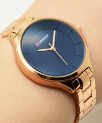【全7色】 CURRENローズゴールド腕時計女性腕時計ステンレス鋼レディース女性腕時計