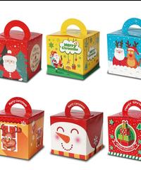 クリスマス2019 クリスマス手さげギフトボックス 9*9.3*9.3cm キャンディーボックス プレゼントボックス ギフトバッグ