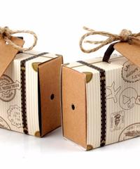 クリスマス2019 クリスマス旅行鞄型ミニギフトバッグ 5*7.8*3cm 20個セット キャリーケース型ボックス スーツケース型プレゼントボックス ギフトバッグ