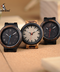 BOBO BIRD ウッドウォッチメンズレディース木製クォーツユニセックス腕時計レザーストラップクォーツ木製腕時計