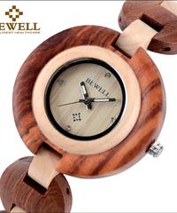 BEWELL 2019 小さなブレスレット木製腕時計防水ユニーククォーツムーブメントアナログ腕時計