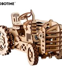 ROBOTIME トラクター 牽引車 木製プラモデル 乗り物 接着剤不要 3Dパズル Diyトラクター 知育玩具 大人新趣味 ギフト クリスマスプレゼント