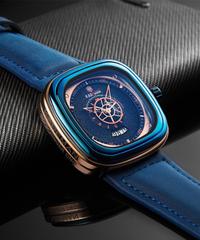KADEMEN 2019新作メンズ腕時計ファッションスクエアクォーツ時計ケードマンカジュアルレザー腕時計