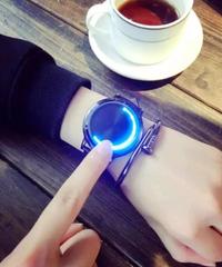 【全4色】 Losidaクリエイティブパーソナリティレザー防水LEDウォッチスマート電子カジュアルウォッチ