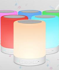 Ledカラフルスマートブルートゥーススピーカータッチナイトライト多機能テーブルランプ