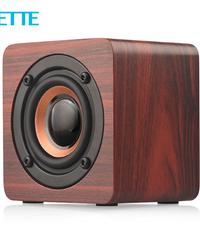Bluetoothポータブルスピーカー  木製高音質スピーカー  持ち運びに便利なコンパクトスピーカー  最大3w出力  無線  ロングバッテリー