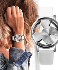 contenaミッキーマウス高級ファッション女性時計革レディー高級時計
