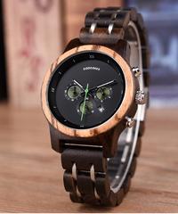 BOBO BIRD 木製時計時計ストップウォッチ日付表示付き時計ファッション時計