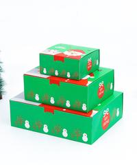 [全3サイズ]クリスマス2019 ギフトボックス ミニ mini 13*13*6cm プレゼントボックス デコレーション